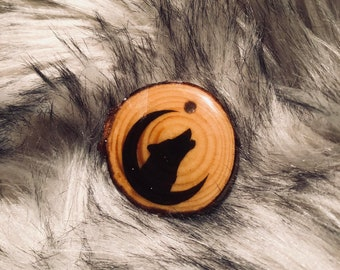 Howl @ the Moon Keychain/PET ID tag