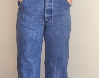 Vintage overalls, bellbottom overalls, 70s