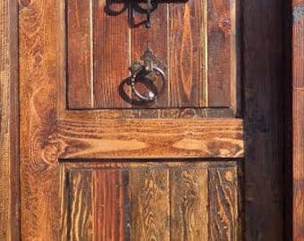 Rustic-reclaimed-lumber-kiln-dried-wood-stained-Door-36-X-80-YOU-Choose-Style