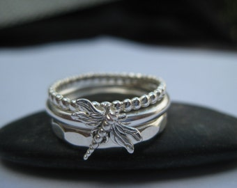 Dragonfly Stacking Rings