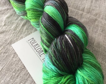 Superwash Merino Sock- Slytherin