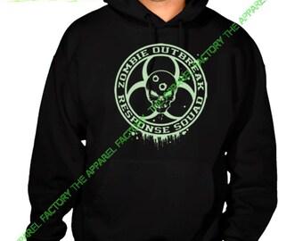 Glow in Dark Zombie Outbreak Response Team Black Hoodie All size S-3XL