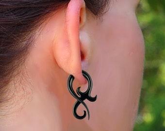 Fake Gauges, Allure Twists, Tribal Jewelry, Cheaters, Split, Eco Friendly, Horn Earrings - H23