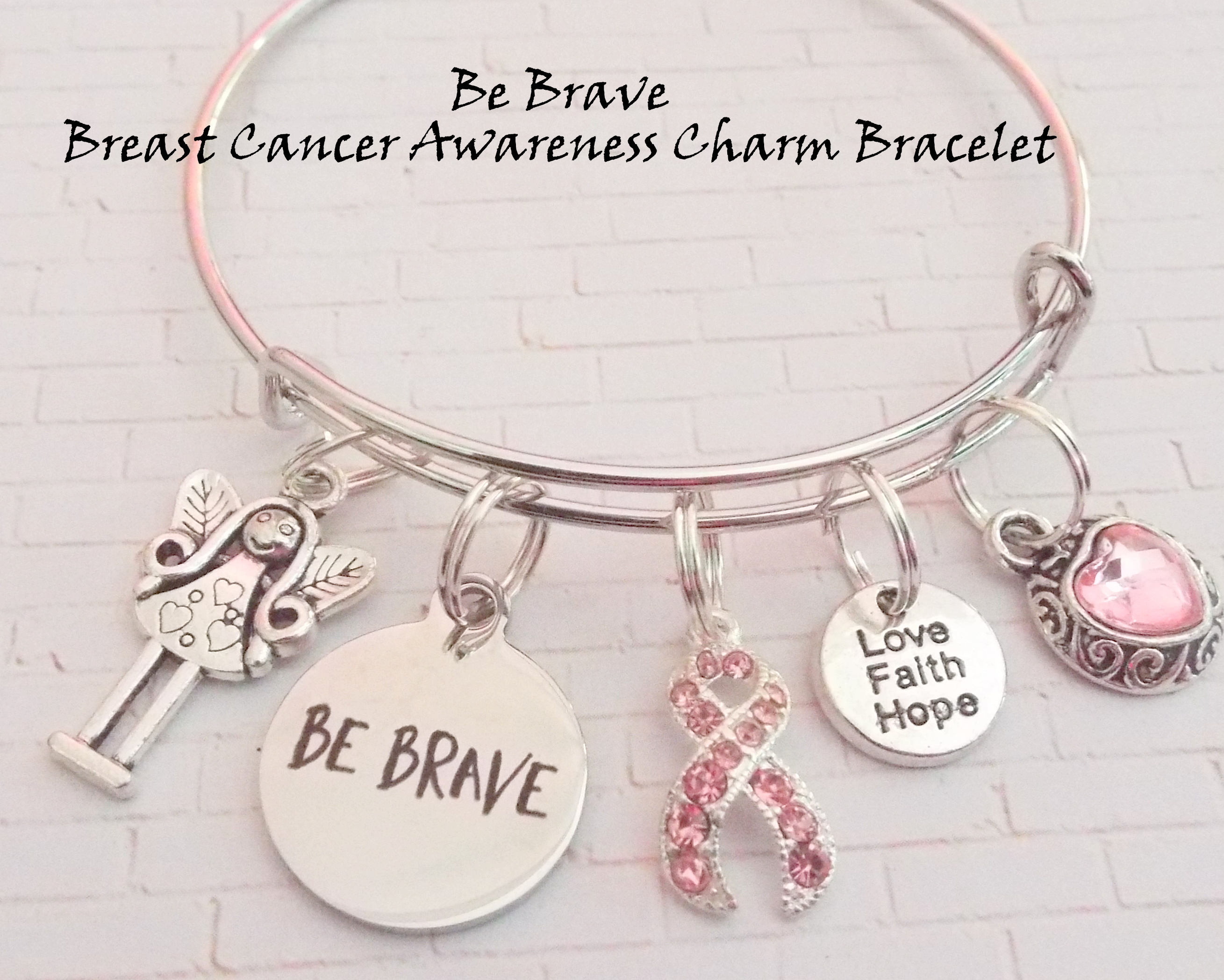 fullxfull p ribbon women bracelet survivor breast cancer il gifts pink gift