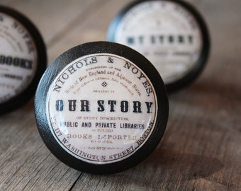 """Vintage Knobs The Books Series Newest Design - """"Our Story"""""""
