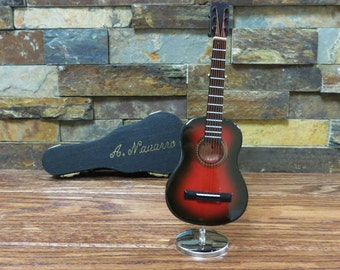 Personalized Miniature Acoustic Guitar - Music gift- instument CG18BR