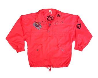 Wicked 80s Neon Salmon Euro Freestyle Ski Jacket - L