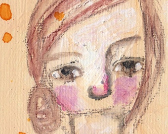"Free to be Me, an original 4x6"" Nixie painting"