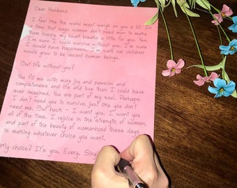 Custom handwritten letter with your own words. Can be sent to anyone and anywhere.