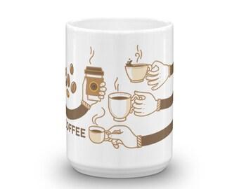 Coffee Mug With Cartoony Design