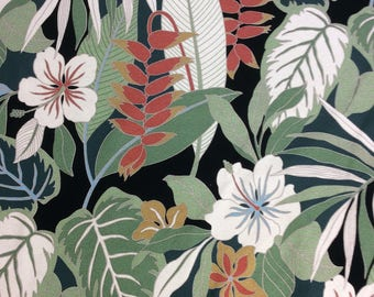 Heavy Upholstery Tropical Fabric.  (Yardage Available)