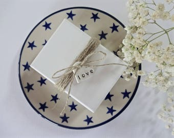 Wedding favour tags 10 / 25 / love heart tags / wedding table centres / wedding decor / wedding favors