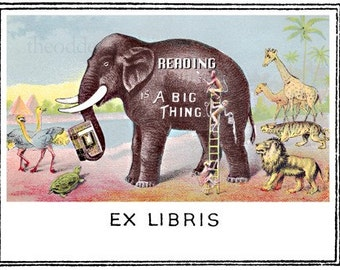Reading is a Big Thing Bookplates (Personalized or Blank)