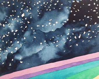 """Original painting, watercolor, painting, """"In the Stars"""""""
