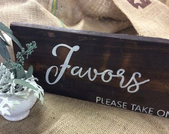 Wood  Painted Wedding Sign | Wedding Favor Sign |Rustic Wedding Sign | Favor Sign | Rustic Wedding