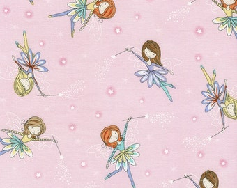 Tossed Fairies Pink By Timeless Treasures Princess Fairies Girl