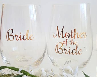 DIY Bridal Party Glass Decal sticker - Style RCH