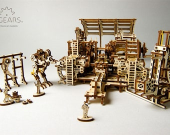 Mechanical Robot Factory 3D Wooden Puzzle by UGears