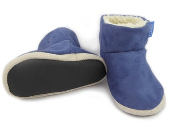 Baby Booties, Kids Slippers, Big Brother Gift, Baby Shoes, Baby Clothes, Baby Boy Clothes, Suede Boots, Toddler Slippers, Boys Slippers
