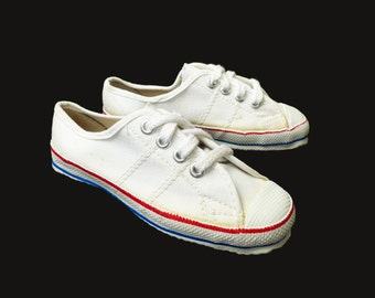 Vintage New Old Stock 70s  Coton Trainers French Stock  EU 24