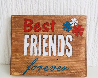 Best Friends Forever - pallets wood wall art, home decor