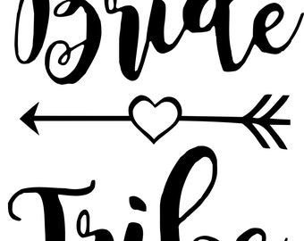 Bride Tribe Wedding Bridal Party Made of Honor Flower Girl Bridesmade SVG