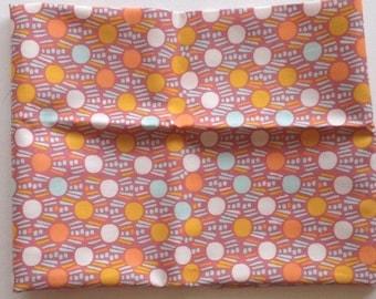 SALE- Dew on Grass Ground, Morning Walk fabric by Leah Duncan for Art Gallery fabrics, polka dots, purple, orange, geometric, southwestern