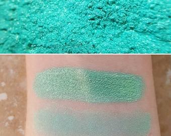 Mermaid Treasure - Blue-Green, Mineral Eyeshadow, Mineral Makeup, Vegan