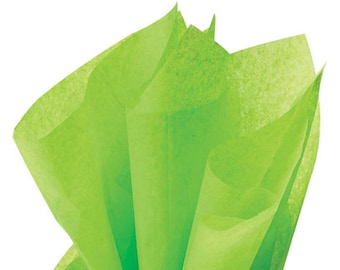 Lime Green Tissue Paper . 20 x 30 inches . 24 sheets