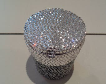 Ashtray hand encrusted with over 1500 luxury authentic PreciosaTM crystals.