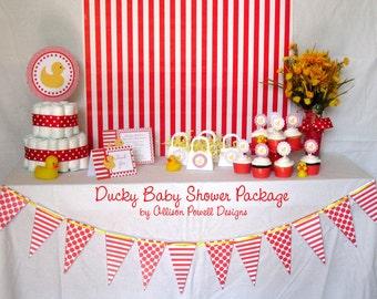 Custom Ducky Baby Shower Party Package - MEDIUM DIY