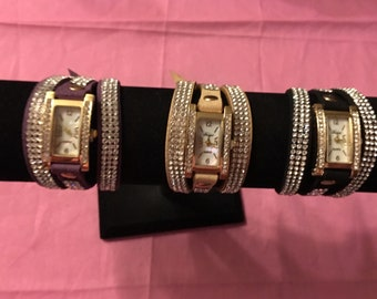 """Trendy New Women""""s and Teen Fashion Wrist Watches in Three Colors - Wrap Around  Sale Priced"""