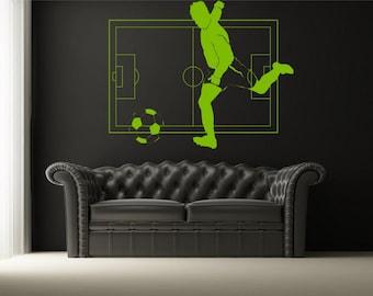 Wall Sticker Soccer Pitch  (3135n)