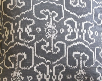 Ikat  BENGALI GRAY designer multipurpose fabric