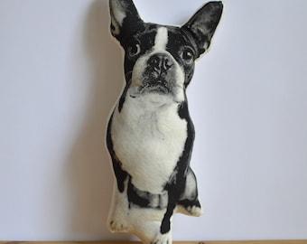 Silkscreen Boston Terrier Pillow