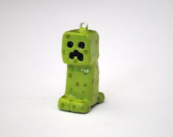 Minecraft Creeper Polymer Clay Charm