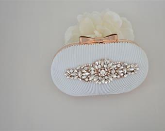 Rose Gold Bridal Clutch Bag