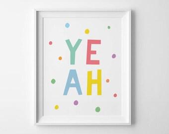 Scandinavian nursery decor, girls room prints, kids typography poster, best selling art prints, baby gifts, kids wall decor, nursery print