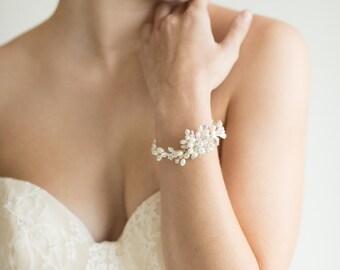 Wedding Bracelet, Bridal Pearl Bracelet, Freshwater Pearl Bracelet, Wedding Pearl Bracelet, Wedding Jewelry