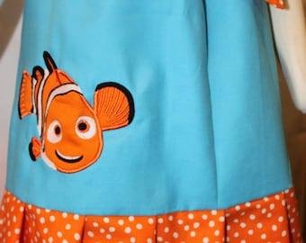 Finding Nemo Applique' Pillowcase Dress