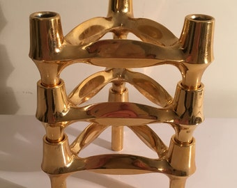 Nagel BMF Gold Metal Candle Holders 3 Modules