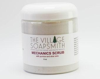 Mechanics Scrub with pumice and aloe vera, hand scrub, grease remover,  gift for him, gardeners soap, pumice scrub, mechanics soap