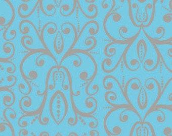Free Spirit Valerie Wells Karavan Turquoise Cotton Lycra by the 1/2 Yd