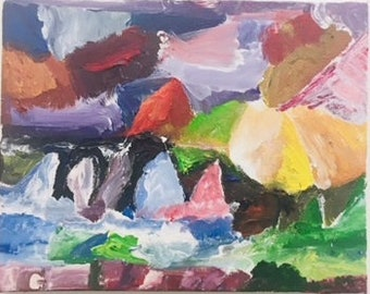 Abstract Mountains and Landscape