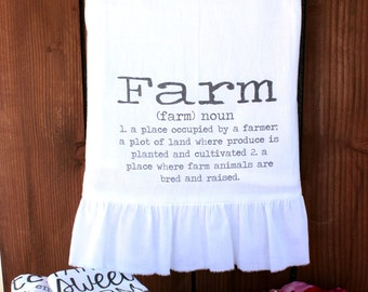 Farmhouse, Shabby Chic, Cottage, Hostess, Wedding, Gift, Ruffle, Kitchen Decor (farm def)