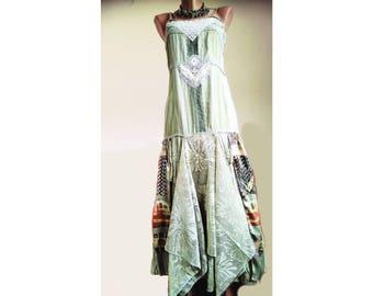 Olive oil green dress. Army green dress. Doily slip dress. Bridesmaids dress