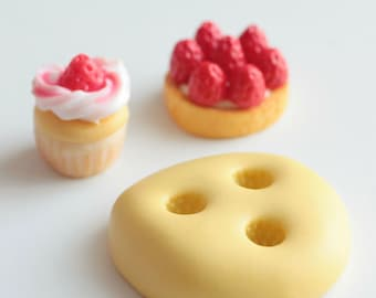 Fruit silicone mold Strawberry 5mm. Polymer clay, resin, airclay