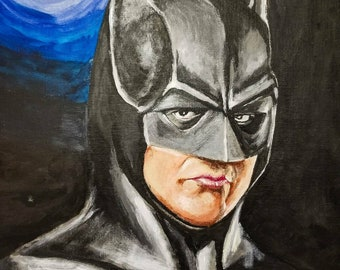 Batman Michael Keaton 16x20 acrylic painting