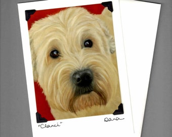 Wheaton Terrier Card - Smooth Coated Wheaton Terrier - Dog Art Card - Proceeds Benefit Animal Charity
