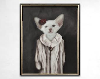 Cat Lover Gift, Cat Print, Quirky Art, Wall Art, Weird Art, Alternative Art, Photo Print, Animal Art, Cat Art, Cat Decor, Anthropomorphic